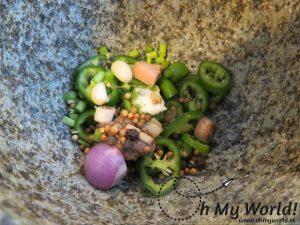 Ingredientes pasta curri verde