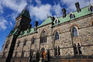 Parlamento por detrás